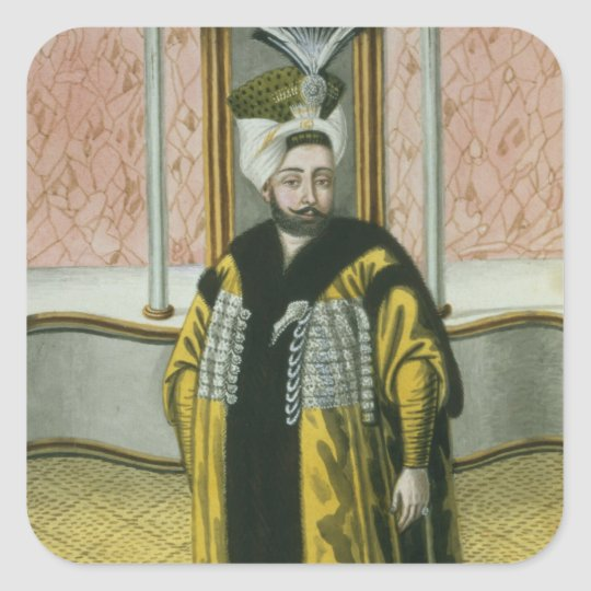 Mustapha IV (1779-1808) Sultan 1807-8, from 'A Ser Square Sticker