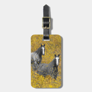 Mustard and Horses Luggage Tag