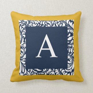 Monogram A Throw Pillow