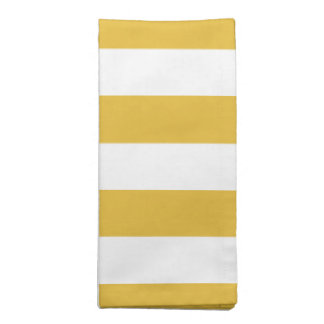 Mustard and White Striped Cloth Napkin