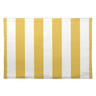 Mustard and White Striped Placemat