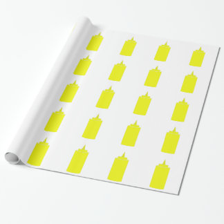 Mustard bottle wrapping paper