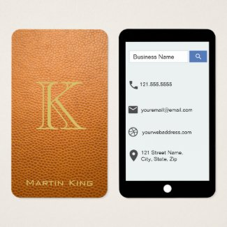 Mustard Brown Mock Leather iPhone Style