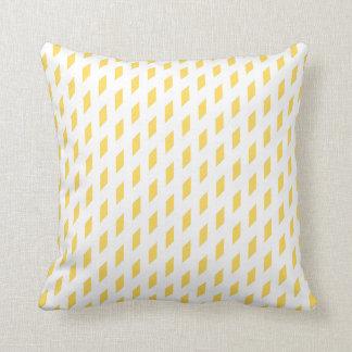 Mustard Diamonds Design Traditional Cushion