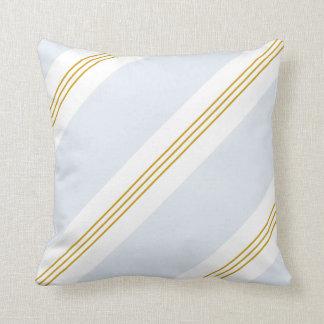 Mustard Gold - Light Blue Stripe - 2 for 1 Cushion