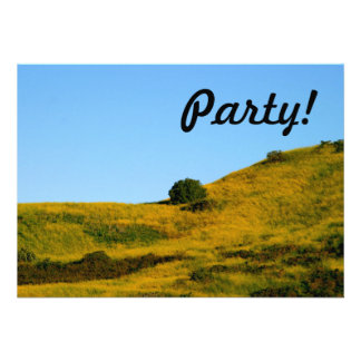 Mustard Grass Personalized Announcement