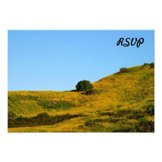 Mustard Grass Custom Invitation