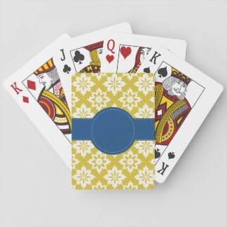 Mustard Navy Personalised Playing Cards
