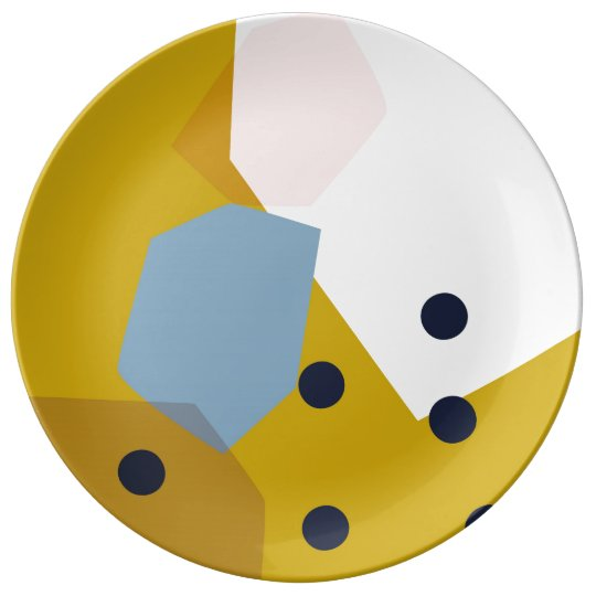 Mustard Pop // Abstract Pattern Plate