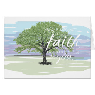 Mustard Seed Faith Notecard, Matthew 17:20 Card