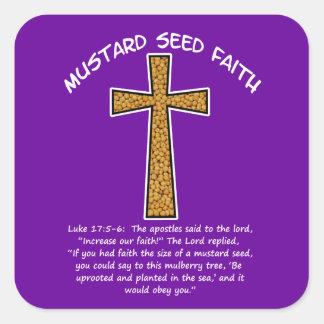 Mustard Seed Faith Square Sticker