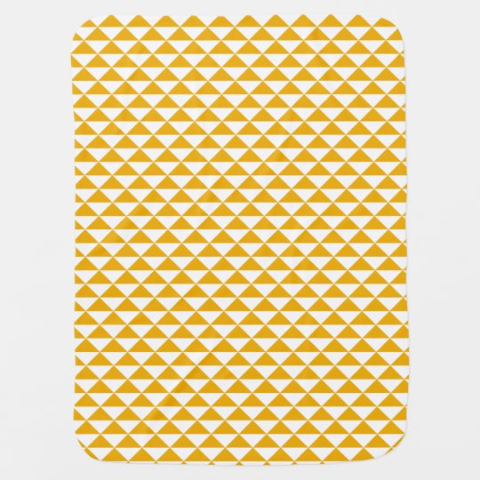 mustard triangles baby blanket