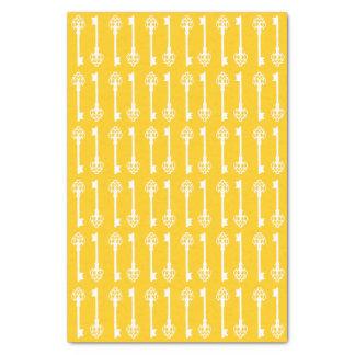 Mustard Victorian Keys Tissue Paper