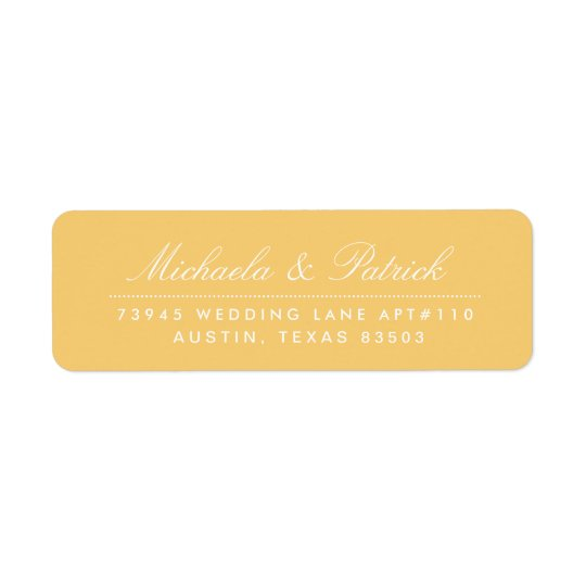 Mustard Yellow and Charcoal Grey Address Labels