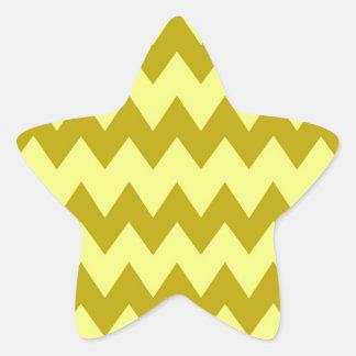 Mustard Yellow Chevron Star Sticker