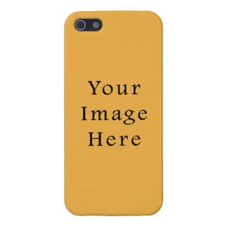 Mustard Yellow Color Trend Blank Template iPhone 5 Case