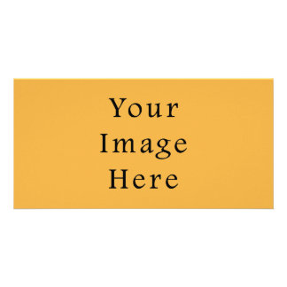 Mustard Yellow Color Trend Blank Template Personalized Photo Card