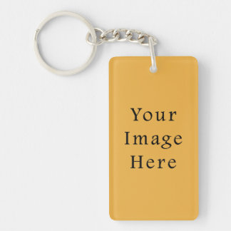 Mustard Yellow Color Trend Blank Template Single-Sided Rectangular Acrylic Key Ring