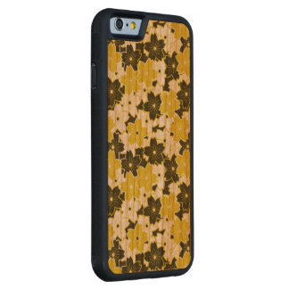 Mustard Yellow Floral Carved Cherry iPhone 6 Bumper Case