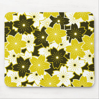Mustard Yellow Floral Mousepad