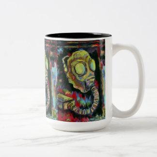 Mustard Yellow, Gas Mask Coffee Mug Art