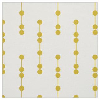 Mustard Yellow Geometric Dots Pattern Fabric