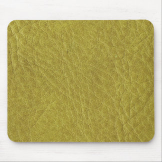 Mustard Yellow Leather Texture Mouse Pad