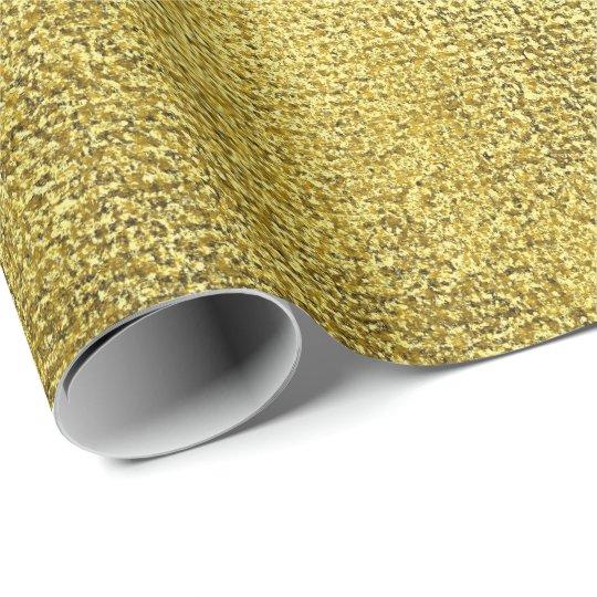 Mustard Yellow Lemon Intense Paint Linen Metallic Wrapping