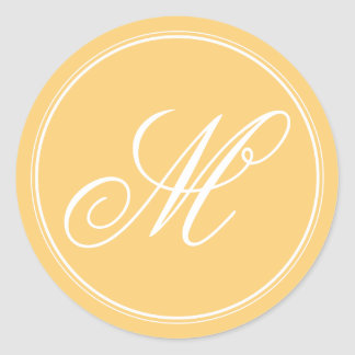Mustard Yellow Monogram Stickers