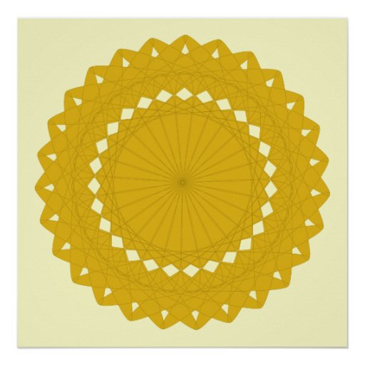 Mustard Yellow Round Graphic. Poster