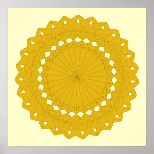 Mustard Yellow Round Graphic. Poster