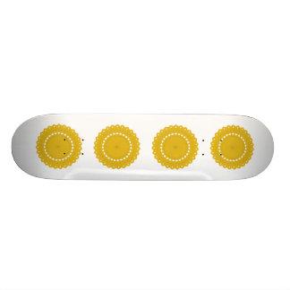 Mustard Yellow Round Graphic. Skateboards