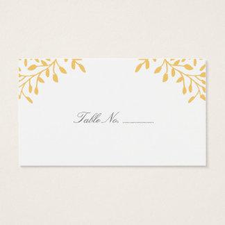 Mustard Yellow Secret Garden Wedding Place Cards
