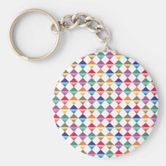Muster Quadrate Dreiecke pattern squares triangles Schlüsselanhänger