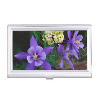 Mutant Columbine Wildflowers Business Card Holder