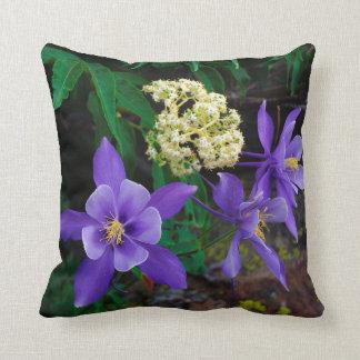 Mutant Columbine Wildflowers Cushion