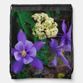 Mutant Columbine Wildflowers Drawstring Bag