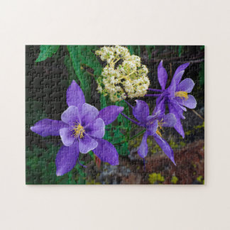 Mutant Columbine Wildflowers Jigsaw Puzzle