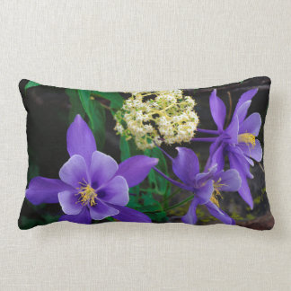 Mutant Columbine Wildflowers Lumbar Pillow