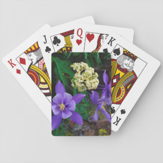 Mutant Columbine Wildflowers Playing Cards