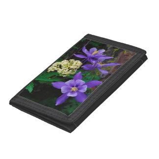 Mutant Columbine Wildflowers Tri-fold Wallet