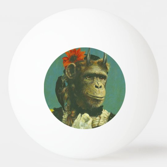 Mutant Monkey Ping Pong Ball
