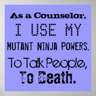 Mutant Ninja Counselor Poster