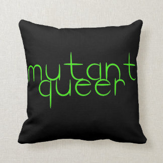 Mutant queer throw pillows