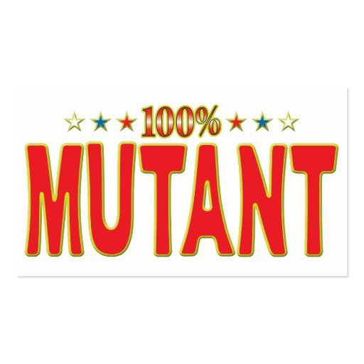 Mutant Star Tag Business Cards