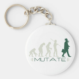 Mutate Basic Round Button Key Ring