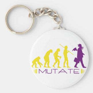 mutatepurple basic round button key ring