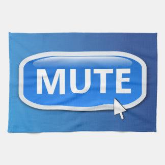 Mute button. tea towel
