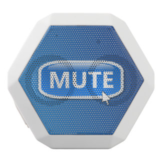 Mute button. white bluetooth speaker