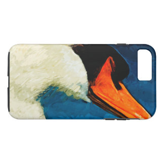 Mute Swan Abstract Impressionism iPhone 7 Plus Case